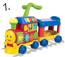 chodzik lokomotywa - pomysł na prezent na roczek
