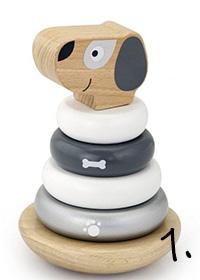 drewniana układanka - zabawka na roczek