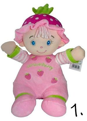 Zabawka na roczek - szmaciana lalka