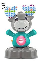 Interaktywny łoś - zabawka na roczek