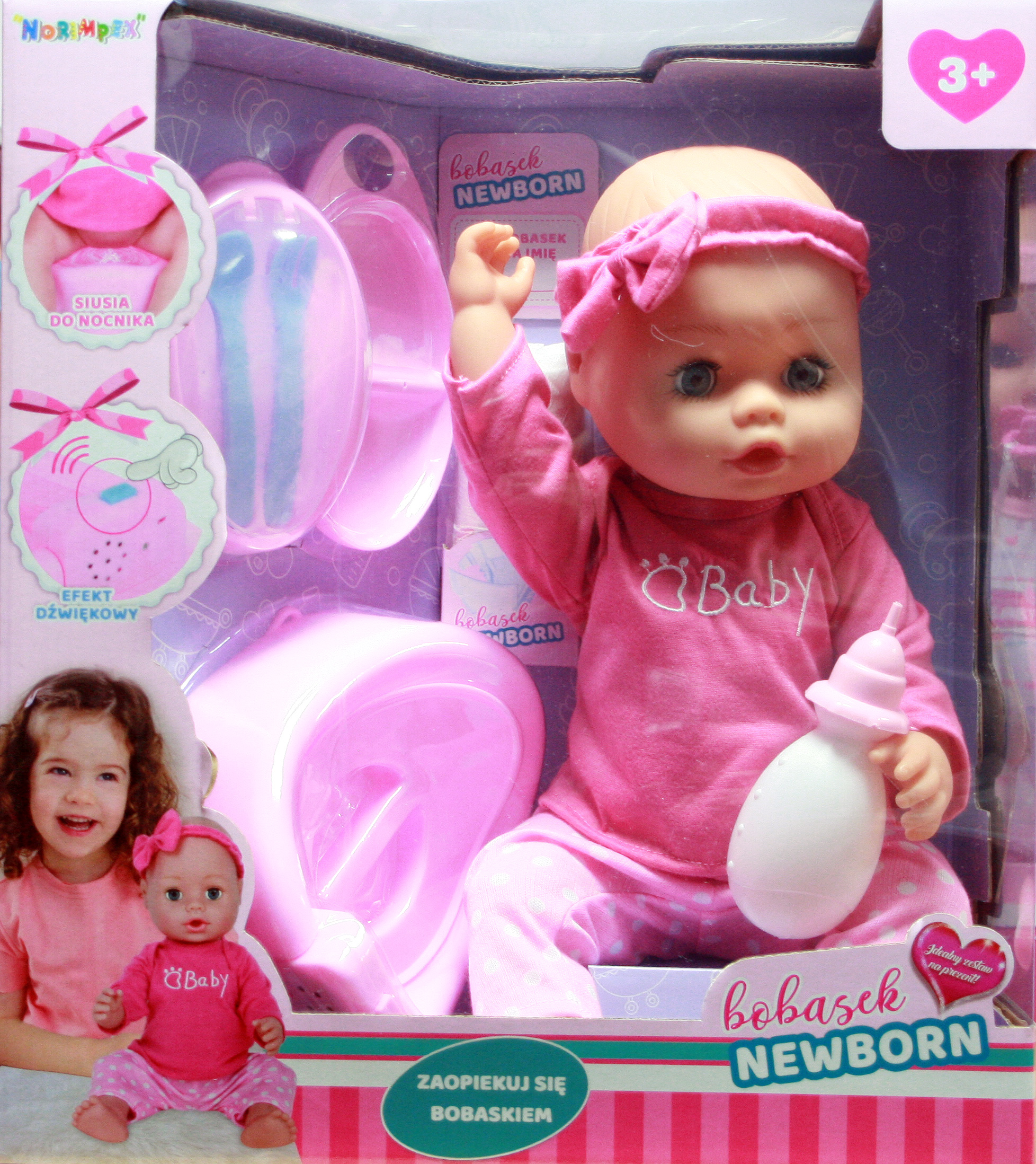 lalka new born baby bobasek w pudełku