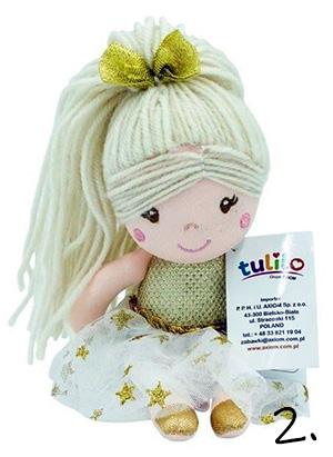 Lala złota - zabawka na roczek dla dziewczynki