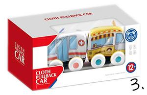 Miękkie autka - zabawki na roczek
