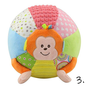 piłka pluszowa - prezent na roczek dla chłopca