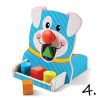 sorter kształtów - pomysł na prezent na roczek
