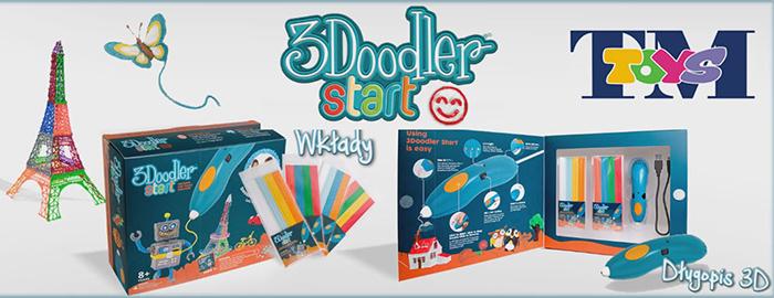 długopisy 3d dla dzieci 3doodler tm toys