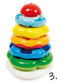 wieża piramidka - zabawka na roczek