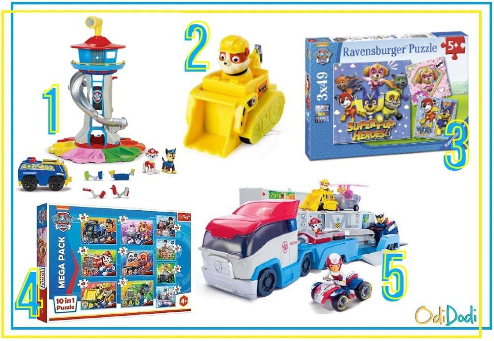 zabawki dla 5 latka z bohaterami Psiego Patrolu
